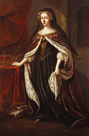 Jacob de Wet II - Mary Stewart, Queen of Scots. The only female figure in de Wet's Scottish monarchs series for Holyrood Palace.