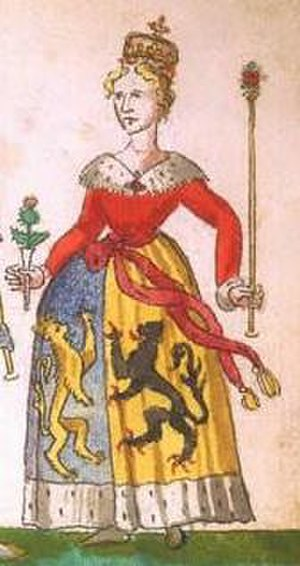 James II of Scotland - A portrait of Mary of Guelders