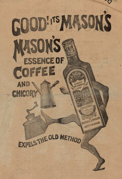 Mason's essence of coffee and chicory advert