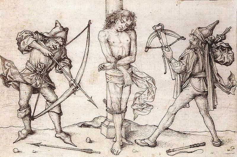 Soubor:Master Of The Housebook - St Sebastian with Archers - WGA14563.jpg
