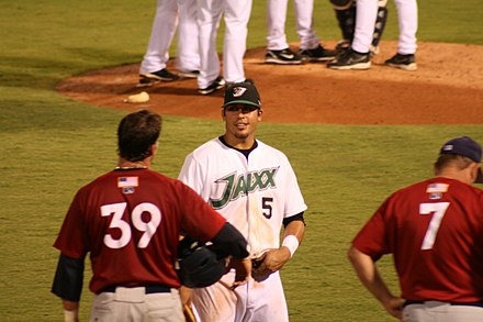 Matt Tuiasosopo (center) was the Mariners' first selection in the 2004 draft. Matt Tuiasosopo 2007.jpg