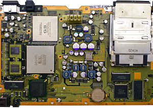PlayStation 2 technical specifications - An SCPH-10000 motherboard.