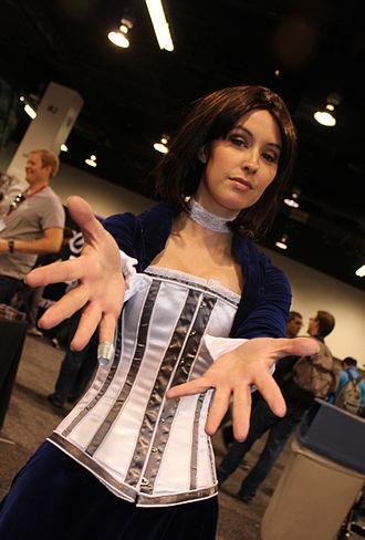 BioShock (series) - Meg Turney cosplaying as Elizabeth at WonderCon 2013.