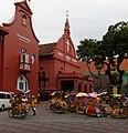Melaka Art Gallery, Christ Church Melaka, nice set of trishaws (12648512253).jpg