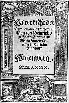 Melanchthon Unterricht der Visitatorn (Quelle: Wikimedia)