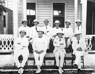 Legislative Assembly of Samoa - Members of the First Legislative Assembly of Samoa under New Zealand administration, circa 1921.