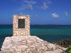 Wreck of the Ten Sail - Wreck of the Ten Sail memorial plaque and viewpoint - dedicated by Her Majesty Queen Elizabeth II in 1994