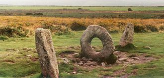 Timeline of Cornish history - The Mên-an-Tol, a small formation of standing stones in Penwith