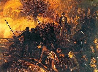 Battle of Hochkirch - The Croats and other irregulars set fire to the village.