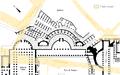 Mercado de Trajano en siglo II y viario actual.png