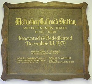Metuchen NJT dedication.JPG