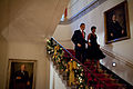 Michelle and Barack Obama descend the Grand Staircase of White House.jpg