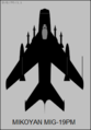 Mikoyan-Gurevich MiG-19PM top-view silhouette.png