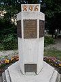Millecentenáriumi emlékmű, Szent István király idézetes tábla, 2019 Ajka.jpg