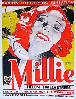 <i>Millie</i> (film) 1931 film by John Francis Dillon