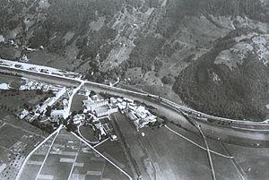 Ziegelbrücke - Image: Mittelholzer Ziegelbrücke vor 1920