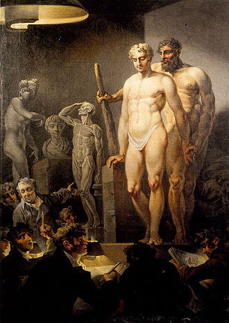Royal Danish Academy of Fine Arts - Image: Model Class at the Copenhagen Academy