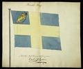 Modellritning till norsk handelsflagga ca 1814 - Livrustkammaren - 22489.tif