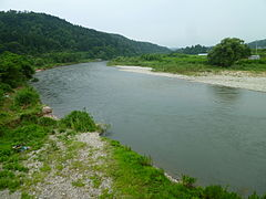 Mogamioguni river from Chojahara-bridge (Down).JPG