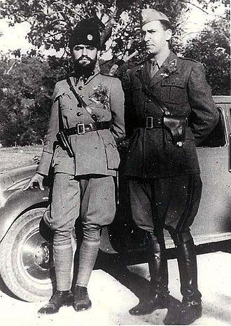 Momčilo Đujić - Đujić with an Italian officer