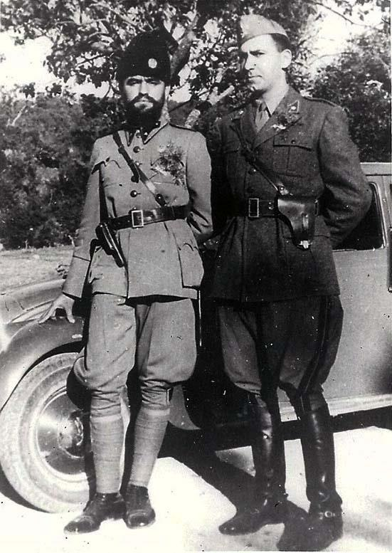 Momčilo Đujić with an Italian officer