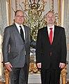 Monaco vürst Albert II ja Eesti suursaadik Monacos Sven Jürgenson, 22. märts 2011 (© Gaetan Luci Palais princier) (5549464533).jpg
