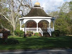 Gazebo in front of town hall