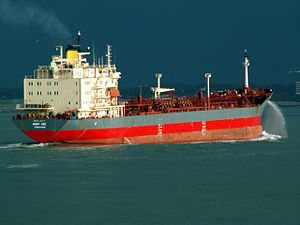 Mont Ace approaching Port of Rotterdam, Holland 11-Feb-2006.jpg
