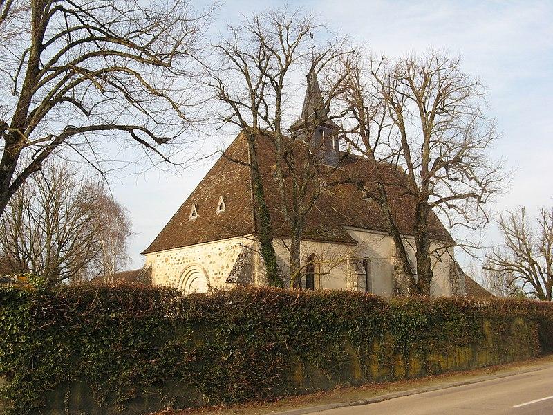 Montacher-Villegardin, ancienne église de Villegardin, vue du sud-ouest