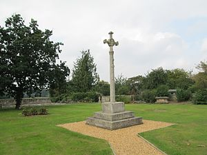 Walsham How - Monument to Walsham How and his wife, in Whittington, Shropshire.