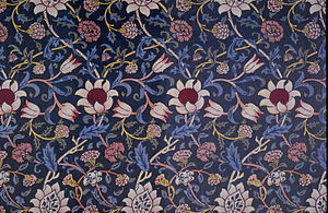Textile printing - Evenlode block-printed fabric.