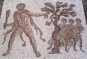 Ο Ηρακλής κλέβει τα μήλα των Εσπερίδων, μωσαϊκό του 3ου αιώνα μ.Χ.