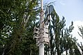 Moscow, VDNKh, lamppost with unused sign holders (10656283486).jpg