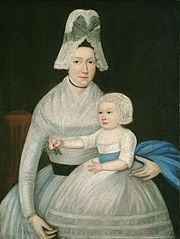 Mother and Child in White