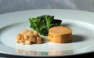 Mulard - Image: Moulard Duck Foie Gras with Pickled Pear