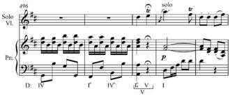 Cadenza - Image: Mozart Violin Concerto K. 271a, III cadenza