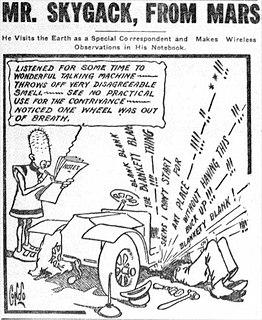 <i>Mr. Skygack, from Mars</i> newspaper comic strip