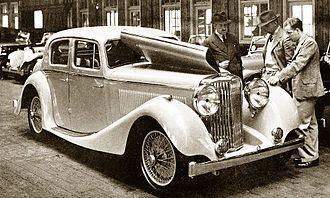 Jaguar Cars - SS Jaguar 2½-litre sports saloon