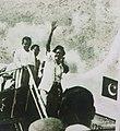 Mujibur Rahman returning from Lahore 1966.jpg