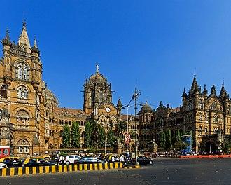 Central Railway zone - CR's headquarters Chhatrapati Shivaji Terminus