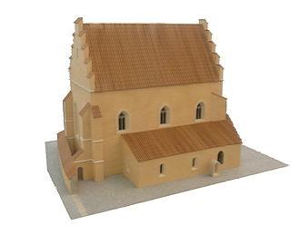 Judenplatz - Model of the synagogue at Judenplatz