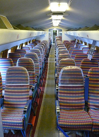 De Havilland Comet - Dan-Air Comet 4C cabin at the National Museum of Flight, East Fortune, Scotland