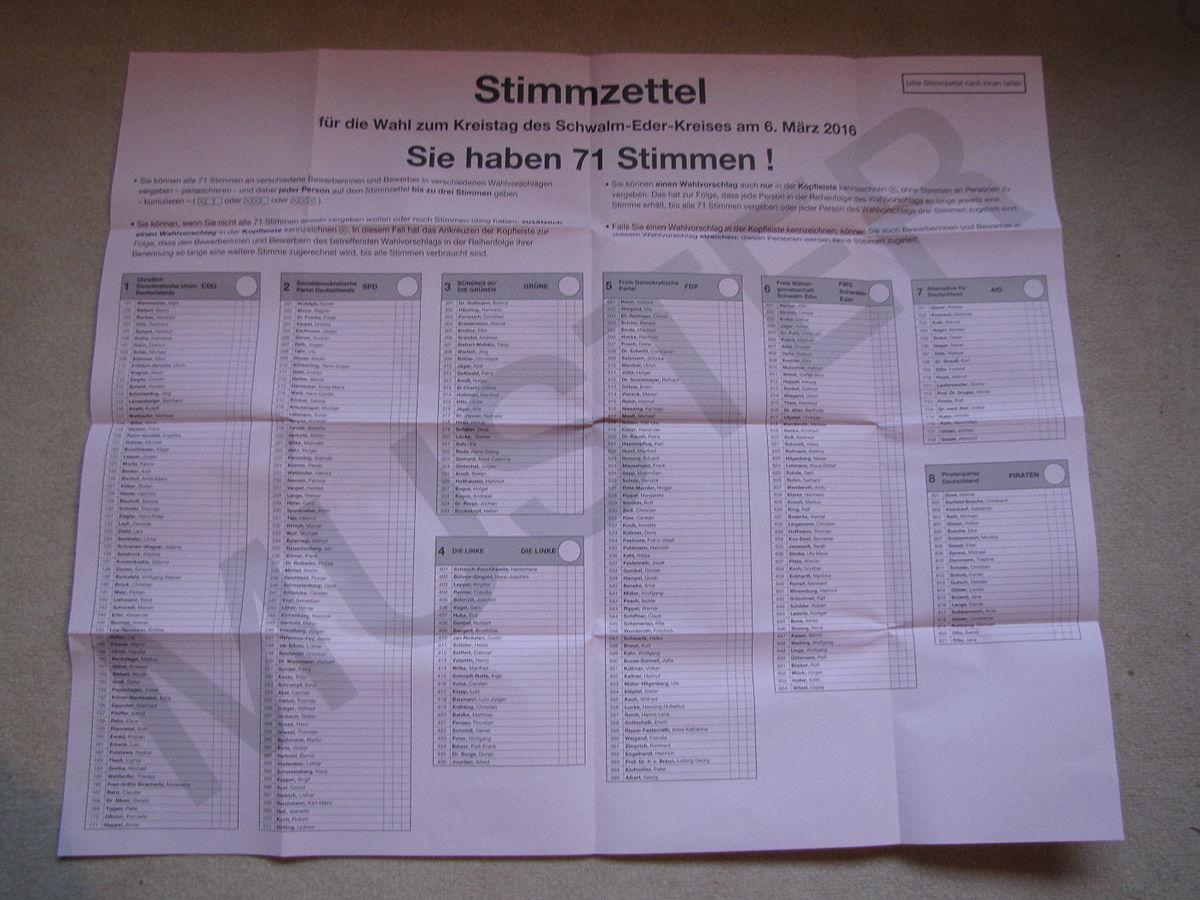 Datei Musterstimmzettel Kommunalwahl Hessen 2016 Kreistag Jpg Wikipedia