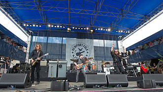 Newport Folk Festival - My Morning Jacket performing at the festival in 2015