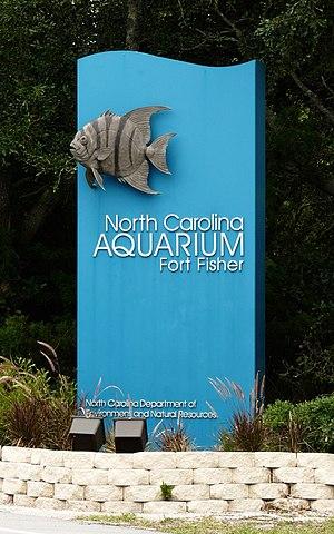 North Carolina Aquariums - Sign for the aquarium
