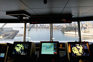 Michael Brown Okinawa assault incident - View of Naha, Okinawa from the bridge of a Military Sealift Command cargo ship