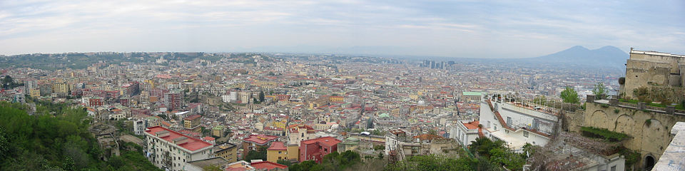 Panoramic shot of Naples. Italy, Naples gives Neapolitan its name.