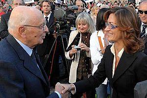 Mariastella Gelmini - Mariastella Gelmini and the President of the Italian Republic, Giorgio Napolitano
