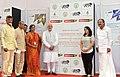 Narendra Modi at foundation stone ceremony of Shri Venkateswara Mobile & Electronics Manufacturing Hub, in Tirupati, Andhra Pradesh. The Governor of Andhra Pradesh and Telangana, Shri E.S.L. Narasimhan (1).jpg