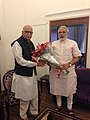 Narendra Modi wishes L.K. Advani on his birthday.jpg